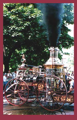 1874 Silsby Steamer Pumps again Memorial Day 1986